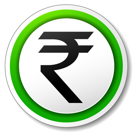 rupee: Vector illustration of rupee icon on white background Illustration