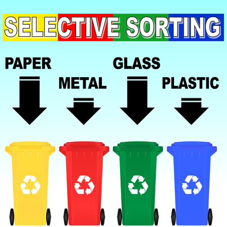 Vector illustation of selective sorting rules concept