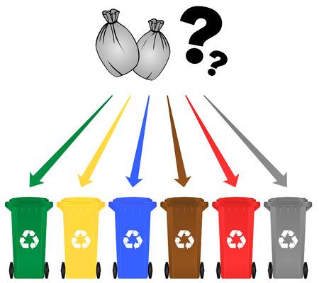 Vector illustration du concept de recyclage sur fond blanc