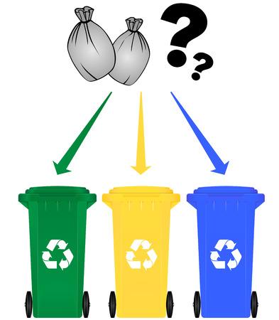 Vector illustration de choix sélectif de couleur tri