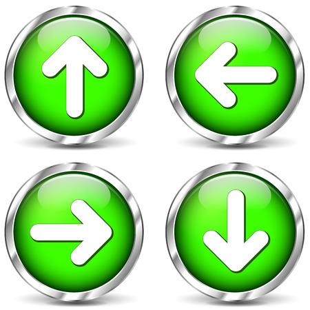 multidirectional: Vector illustration of multidirectional arrows icons on white background