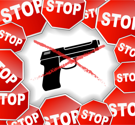 Vector illustration of stop weapon concept background Vector