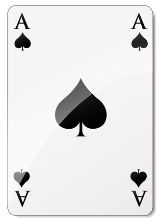 Vector illustration of ace of spades on white background Stock fotó - 27835295