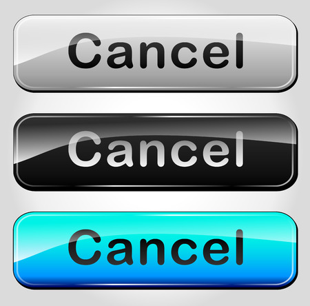 Vector illustration of cancel buttons on white background Illustration