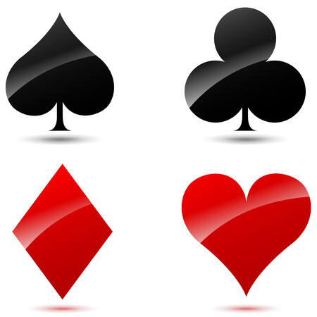 Vector illustration of playing cards icons on white background Vector
