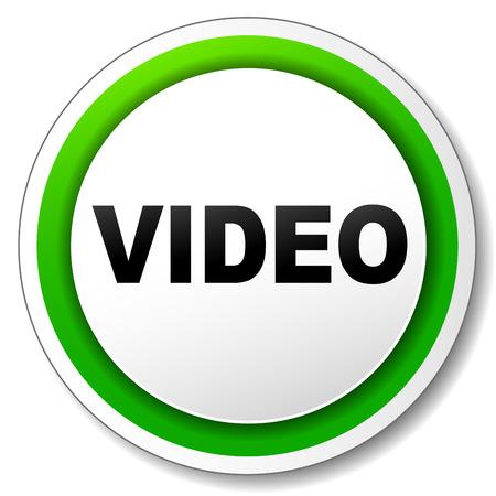 white bacjground: Vector illustration of video icon on white bacjground