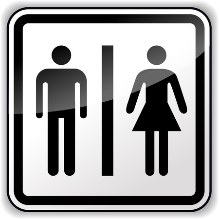 Vector illustration of man and woman sign on white background Vector