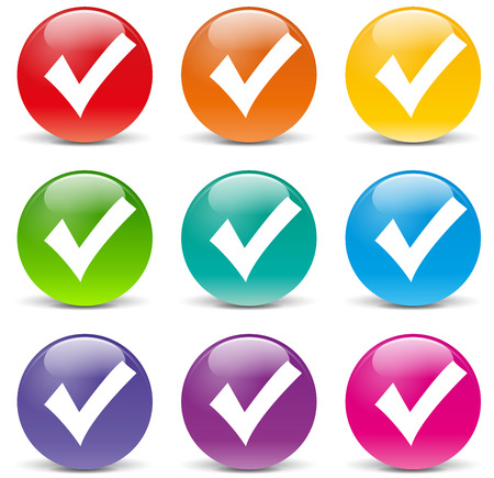 illustration of check mark icons on white background