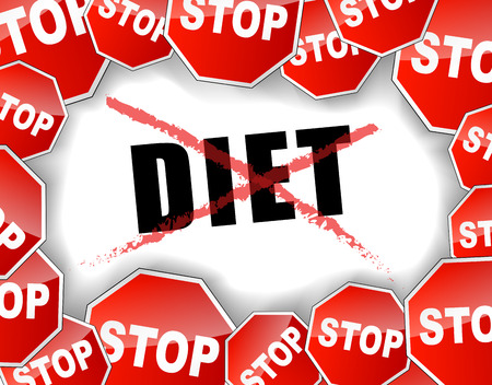 illustration of stop diet concept background