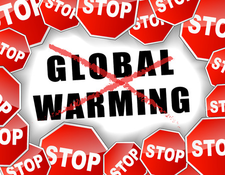 stop global warming: illustration of stop global warming background concept Illustration