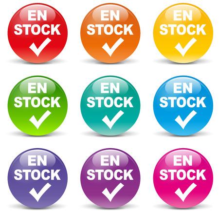 In voorraad pictogrammen op witte achtergrond Stock Illustratie