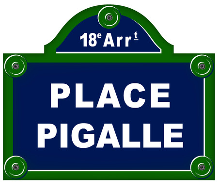 vector illustration of place pigalle sign on white background Ilustrace