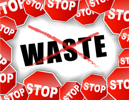Vector illustration of stop waste concept background