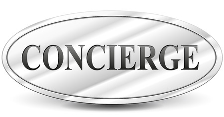 Vector illustration of concierge sign on white background Vector