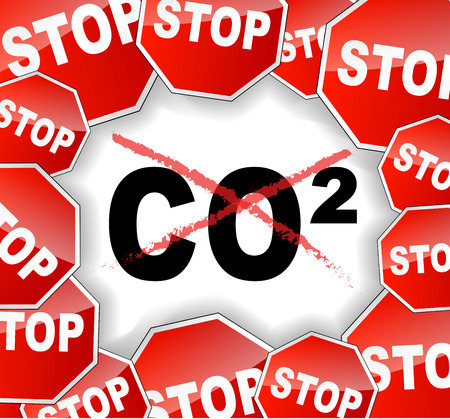 Vector illustration of stop pollution concept background Vector