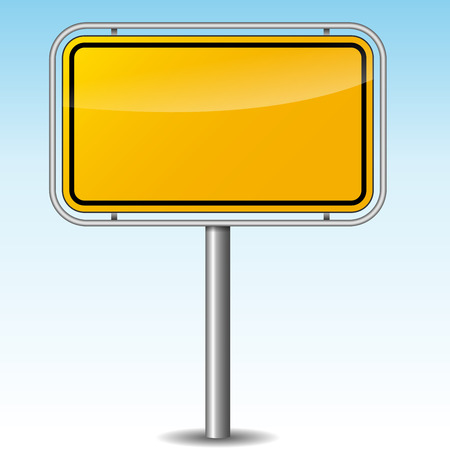 Vector illustration of german roadsign on sky background