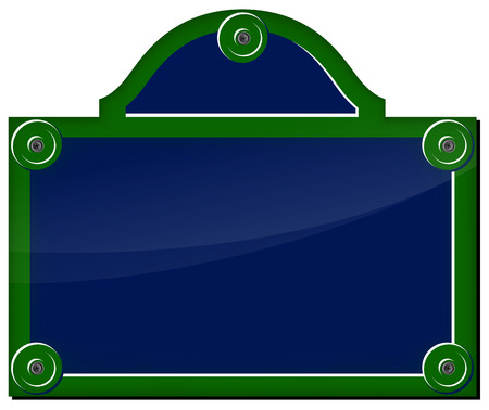 green street: Ilustraci�n vectorial de la placa parisino en el fondo blanco Vectores