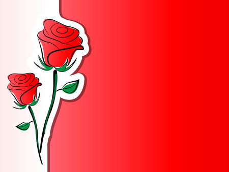 Vector illustration of roses background concept Vector