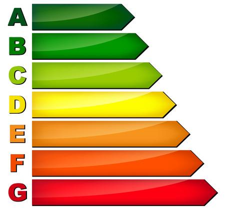 consumo energia: illustrazione del consumo di energia su sfondo bianco Vettoriali