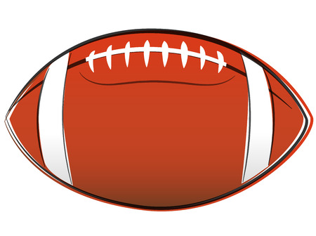 illustration of american football ball drawing on white background Vector