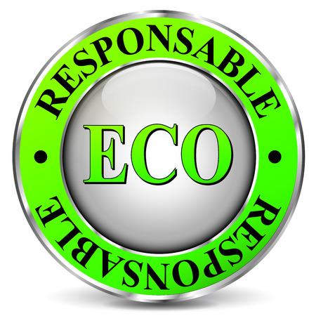 biodegradable: illustration of eco-friendly icon on white background