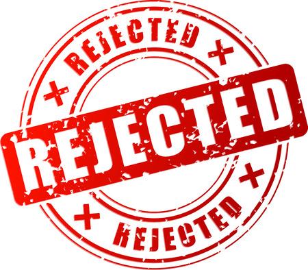 Vector illustration of red rejected stamp concept Иллюстрация