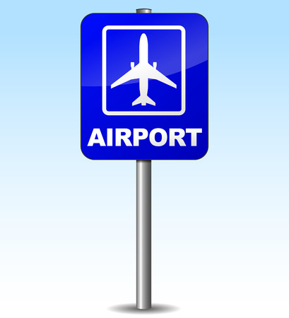 Vector illustration of airplane sign to indicate airport Vector