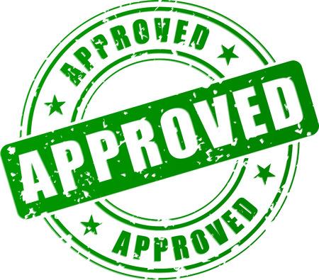 approved stamp: Ilustraci�n vectorial de concepto verde sello autorizado