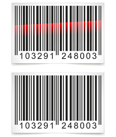 codigo barras: Ilustraci�n del vector de la etiqueta de c�digo de barras en el fondo blanco