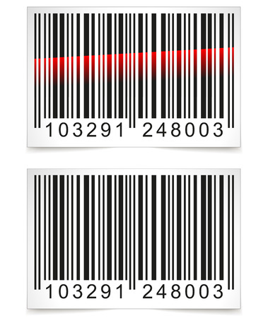 barcode scan: Vector illustration of barcode tag on white background