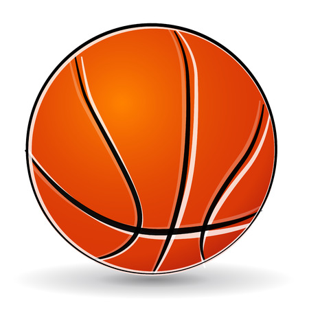 Vector illustration of basketball ball drawing on white background Vector