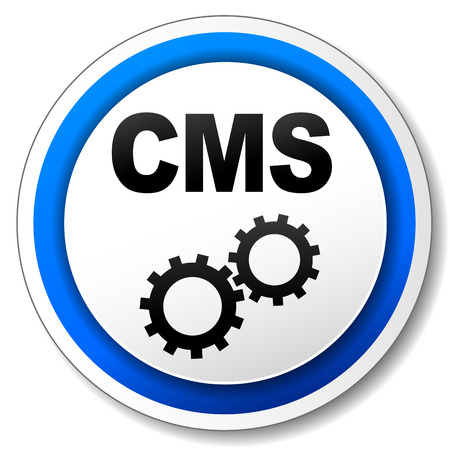 cms: Vector illustration of black and blue cms icon Illustration