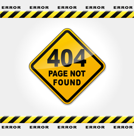 Vector illustration of error web page concept