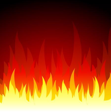 fuoco e fiamme: Illustrazione vettoriale di fuoco fiamme, fondo, concetto