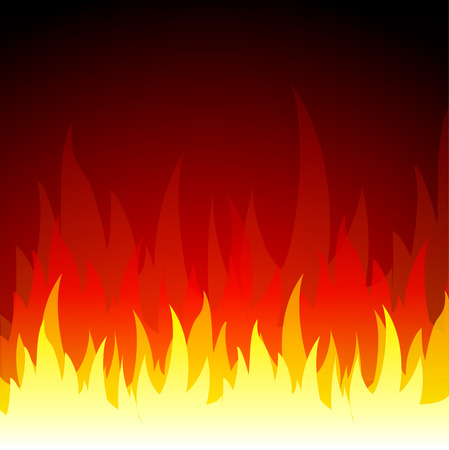 Vector illustratie van vuur vlammen achtergrond, concept