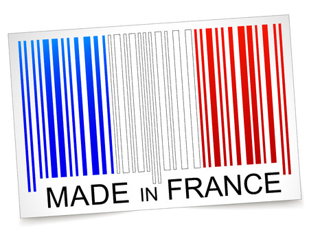 Vector illustration of made in france barcode concept Vector