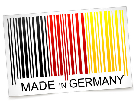 Vector illustration of made in germany barcode concept Vector