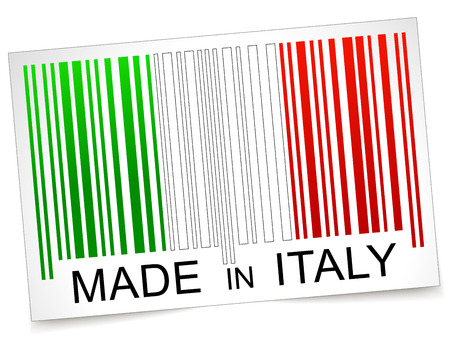 Vector illustration of made in italy barcode concept Vector