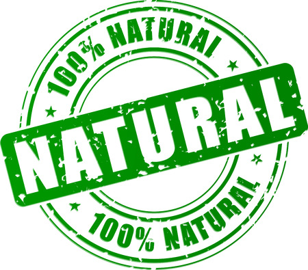 Vector illustration of green natural stamp concept Vector