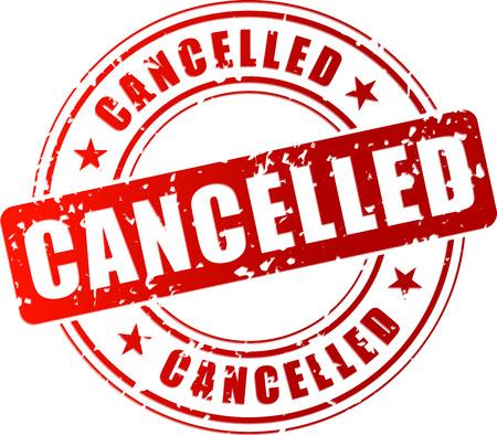 Vector illustration of red cancelled stamp on white background Illustration