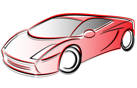 prototype: Vector illustration of prototype car drawing concept