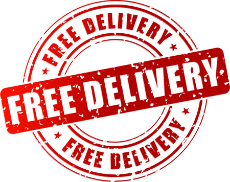 free vector: Vector illustration of free delivery stamp on white background