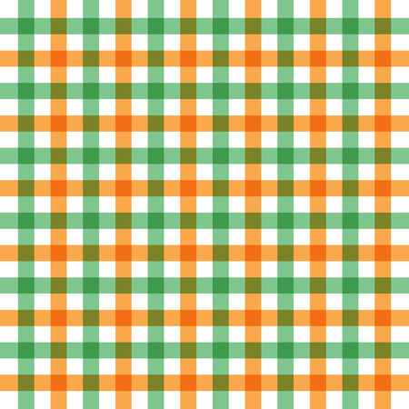 Vector illustration of green and orange table cloth background Vector