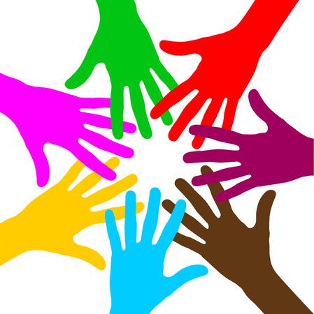 multirracial: Ilustra��o do vetor da unidade multirracial fundo conceito
