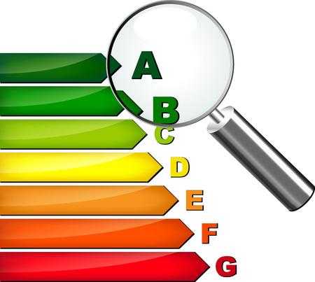 eficiencia energetica: Ilustraci�n del vector del concepto de la casa de la eficiencia energ�tica