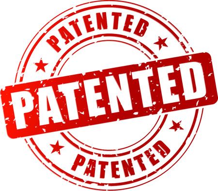 patent: Vector illustration of red patented stamp on white background Illustration