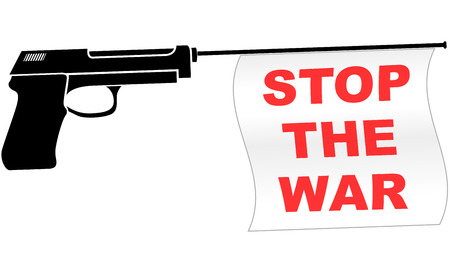 Vector illustration of stop the war concept icon Vector