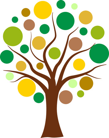 Vector illustration of colorful tree bubbles concept Vector