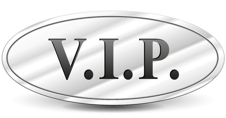 metal sign: Vector illustration of vip metal sign on white background