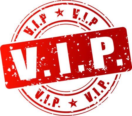 Vector illustration of red vip stamp icon Vettoriali